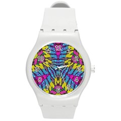 Crazy Zebra Print  Plastic Sport Watch (medium)