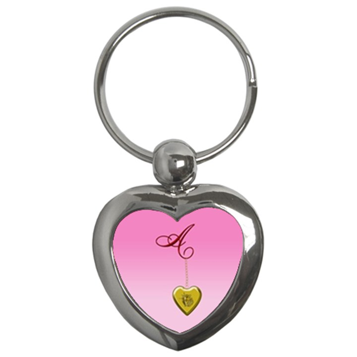 A Golden Rose Heart Locket Key Chain (Heart)