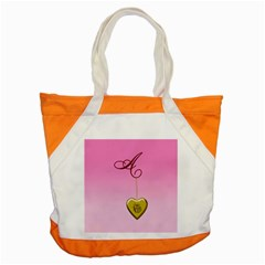 A Golden Rose Heart Locket Accent Tote Bag