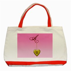 A Golden Rose Heart Locket Classic Tote Bag (red)