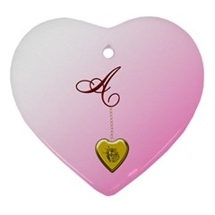A Golden Rose Heart Locket Heart Ornament (Two Sides)