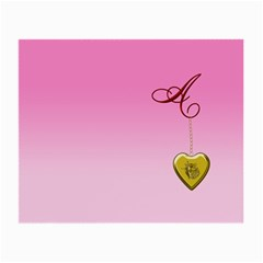 A Golden Rose Heart Locket Glasses Cloth (Small, Two Sides)