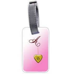 A Golden Rose Heart Locket Luggage Tag (one Side)