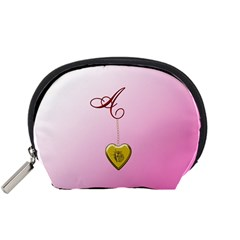 A Golden Rose Heart Locket Accessory Pouch (Small)