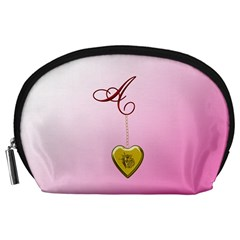 A Golden Rose Heart Locket Accessory Pouch (large)