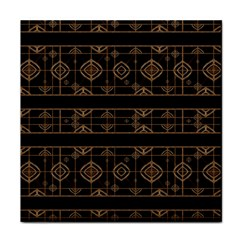 Dark Geometric Abstract Pattern Ceramic Tile