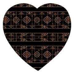 Dark Geometric Abstract Pattern Jigsaw Puzzle (heart)