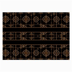 Dark Geometric Abstract Pattern Glasses Cloth (large, Two Sided)