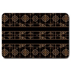 Dark Geometric Abstract Pattern Large Door Mat