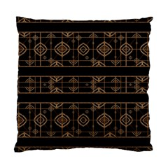 Dark Geometric Abstract Pattern Cushion Case (two Sided)