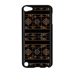 Dark Geometric Abstract Pattern Apple Ipod Touch 5 Case (black)