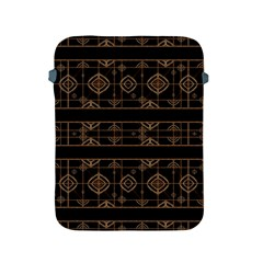 Dark Geometric Abstract Pattern Apple Ipad Protective Sleeve
