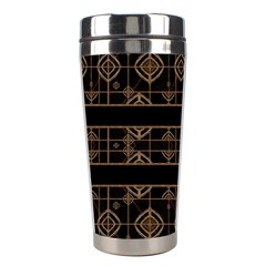 Dark Geometric Abstract Pattern Stainless Steel Travel Tumbler