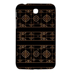Dark Geometric Abstract Pattern Samsung Galaxy Tab 3 (7 ) P3200 Hardshell Case