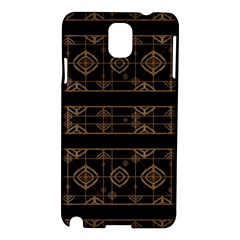 Dark Geometric Abstract Pattern Samsung Galaxy Note 3 N9005 Hardshell Case