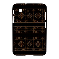 Dark Geometric Abstract Pattern Samsung Galaxy Tab 2 (7 ) P3100 Hardshell Case
