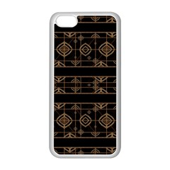Dark Geometric Abstract Pattern Apple iPhone 5C Seamless Case (White)