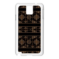 Dark Geometric Abstract Pattern Samsung Galaxy Note 3 N9005 Case (White)