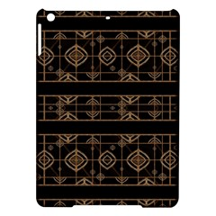 Dark Geometric Abstract Pattern Apple iPad Air Hardshell Case