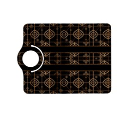 Dark Geometric Abstract Pattern Kindle Fire HD (2013) Flip 360 Case