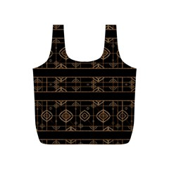 Dark Geometric Abstract Pattern Reusable Bag (s)