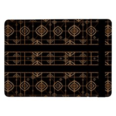 Dark Geometric Abstract Pattern Samsung Galaxy Tab Pro 12.2  Flip Case