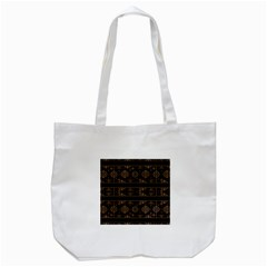 Dark Geometric Abstract Pattern Tote Bag (White)