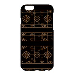 Dark Geometric Abstract Pattern Apple iPhone 6 Plus Hardshell Case