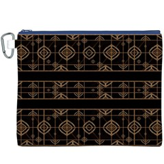 Dark Geometric Abstract Pattern Canvas Cosmetic Bag (XXXL)