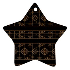 Dark Geometric Abstract Pattern Star Ornament (two Sides)