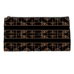 Dark Geometric Abstract Pattern Pencil Case