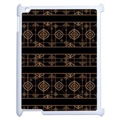 Dark Geometric Abstract Pattern Apple Ipad 2 Case (white)