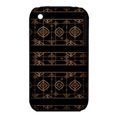 Dark Geometric Abstract Pattern Apple iPhone 3G/3GS Hardshell Case (PC+Silicone)
