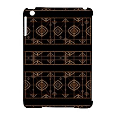 Dark Geometric Abstract Pattern Apple iPad Mini Hardshell Case (Compatible with Smart Cover)