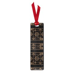 Dark Geometric Abstract Pattern Small Bookmark