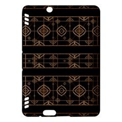 Dark Geometric Abstract Pattern Kindle Fire HDX Hardshell Case