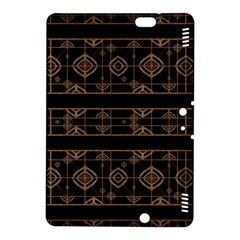 Dark Geometric Abstract Pattern Kindle Fire Hdx 8 9  Hardshell Case