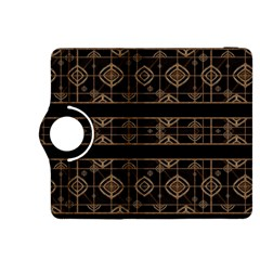 Dark Geometric Abstract Pattern Kindle Fire HDX 8.9  Flip 360 Case