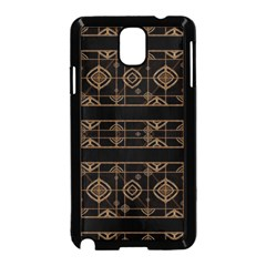 Dark Geometric Abstract Pattern Samsung Galaxy Note 3 Neo Hardshell Case (Black)