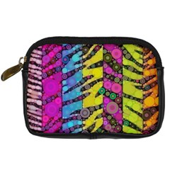 Crazy Animal Print Abstract  Digital Camera Leather Case