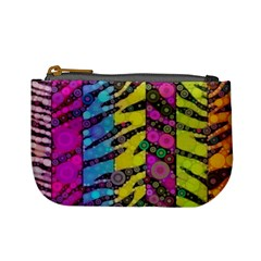 Crazy Animal Print Abstract  Coin Change Purse