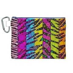 Crazy Animal Print Abstract  Canvas Cosmetic Bag (xl)