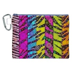 Crazy Animal Print Abstract  Canvas Cosmetic Bag (XXL)