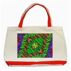 Zebra Print Abstract  Classic Tote Bag (red)