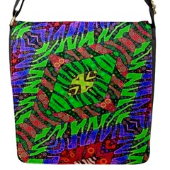 Zebra Print Abstract  Flap Closure Messenger Bag (small)