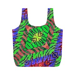 Zebra Print Abstract  Reusable Bag (M)