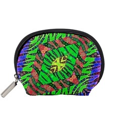 Zebra Print Abstract  Accessory Pouch (Small)