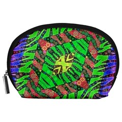 Zebra Print Abstract  Accessory Pouch (large)