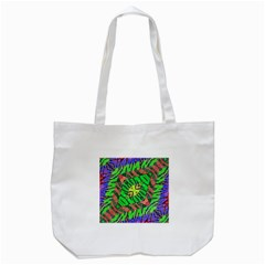 Zebra Print Abstract  Tote Bag (White)