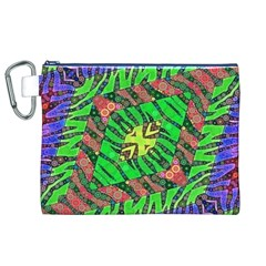 Zebra Print Abstract  Canvas Cosmetic Bag (XL)